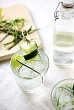 Cucumber Infused Vodka Cocktail