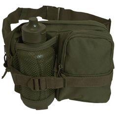 Mil-Tec Waist Bag with Canteen Olive - http://survivingthesheep.com/mil-tec-waist-bag-with-canteen-olive/