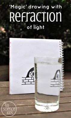'Magic' Drawing with Refraction of Light: an art meets science activity for kids – Go Science Kids Creative Activities For Kids, Creative Arts And Crafts, Arts And Crafts Projects, Creative Kids, Kid Crafts, Steam Activities, Learning Activities, Kids Learning, Stem Science