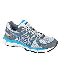 Take a look at this ASICS White & Iris GEL®-Oracle Running Shoe - Women on zulily today!