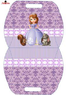Princesa Sof�a: Caja Almohada para Imprimir Gratis.