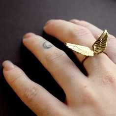 Beautiful wing ring by Brilliance Found on etsy. $29