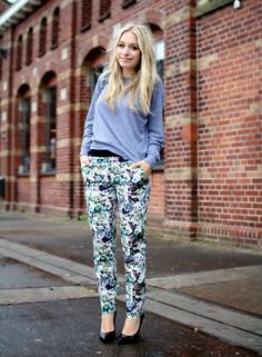 need these zara trousers    Outfit: Blooming | This chick's got style