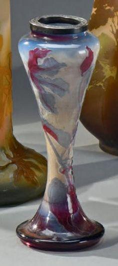 Émile GALLÉ (1846-1904) SolanumRare vase ou pied de lampe diabolo mép