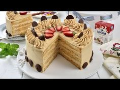 Tort cu caramel, un tort delicios (CC Eng Sub) Delicious Desserts, Dessert Recipes, Biscuit, Sweets, Food, Youtube, Home, Tarts, Sweet Treats