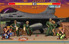 Image Street Fighter II Turbo : Hyper Fighting Super Nintendo - 24 - Guile VS Guile, nouveauté du SF II Turbo.
