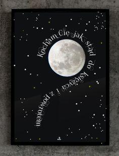 Plakat №256: Kocham Cię jak stąd do Księżyca i z powrotem