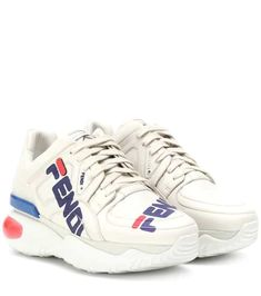 12d976d3061 FENDI MANIA leather sneakers