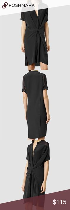 AllSaints black silk Fleet dress Suggested user! Top rated seller Always authentic Smoke free house No trades Posh transactions only Open to REASONABLE offers  EXCELLENT used condition! No damage. Looks good as new. More photos to come All Saints Dresses Midi