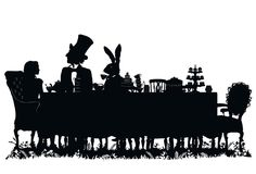 Alice in Wonderland - Laura Barrett - Illustration Portfolio - London Based Freelance Silhouette & Pattern Illustrator