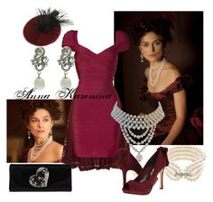 Anna Karenina #6 At the Theater by marijephotogirl on Polyvore featuring mode, Hervé Léger, Mela Loves London, rsvp, Giorgio Armani, Lido Pearls and Cara