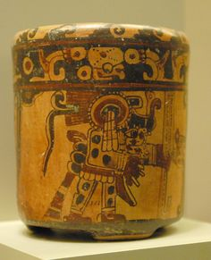 This Maya vessel is part of the May collection at the St Louis Art Museum