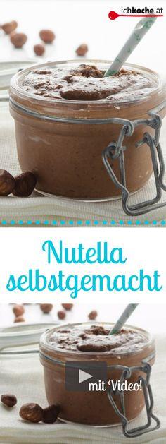 Ab sofort machen wir unser Nutella selbst! Ganz einfach mit diesem Rezept! Ab Sofort, Nutella, Tiramisu, Cereal, Pudding, Breakfast, Ethnic Recipes, Desserts, Low Carb