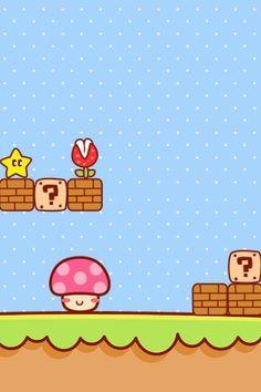 iPhone 手机壁纸 萌系 套图 - 堆糖 发现生活_收集美好_分享图片 Cute Backgrounds, Cute Wallpapers, Wallpaper Backgrounds, Iphone Wallpaper, Kawaii Background, Background Images, Character Wallpaper, Mario And Luigi, Kawaii Wallpaper