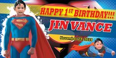 Birthday Tarpaulin Superman Theme Template