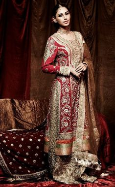 Beautiful  impressive ritu kumar bridal dresses collection  (10)