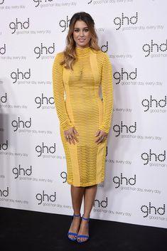 Blanca Suárez impacta con un ceñido vestido amarillo