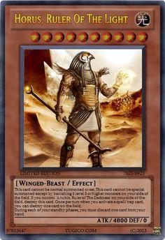 Horus, Ruler of the Light Yu-Gi-Oh Fiction Card