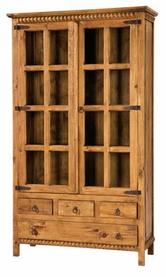 abbey oak display cabinet with glass doors muebles de madera