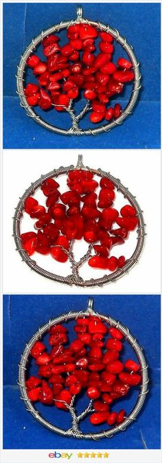 Tree of Life Pendant Genuine Red Coral 20.00 ctw USA Seller #cyberMonday #ebay  http://stores.ebay.com/JEWELRY-AND-GIFTS-BY-ALICE-AND-ANN