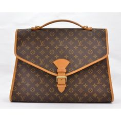 Louis Vuitton vintage canvas briefcase binding and buckle