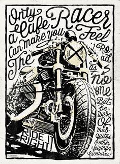 Poster Cafe Racer, for a Constructors Exhibition Alex Ramon Mas Designs ® www.alexramonmas.com
