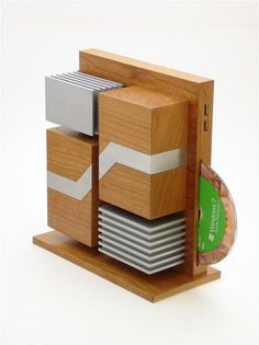 Make your own modern wood computer tower.