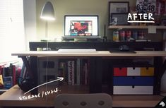 Desk shelf ideas desk shelf lf leaning desktop shelves computer ideas tutorials for home office with