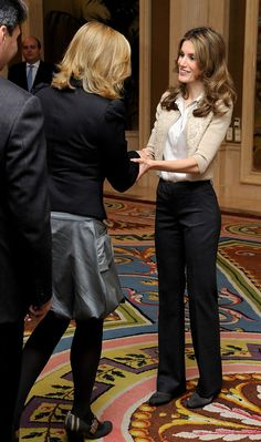 Princess Letizia - Princess Letizia of Spain Attends Audiences At Zarzuela Palace