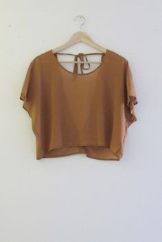 Bohemian Sheer Chiffon Rust Low Back Crop Top
