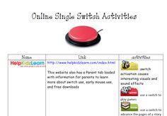 Online Single Switch Activities