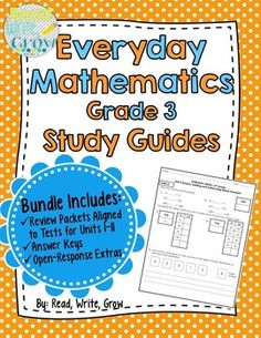 Everyday Math - Review & Study Guides Units 1-11 {Grade 3-