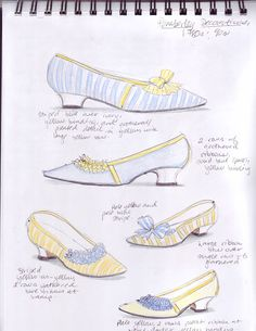 American Duchess: V82: How To Decorate Pemberley Regency Shoes Like It's 1789