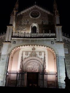 Fachada de la Iglesias de los Jerónimos, Madrid.