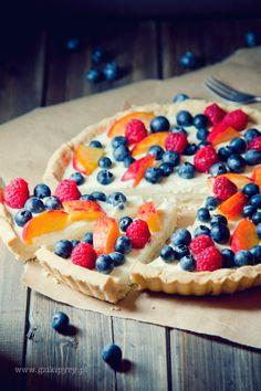 White Chocolate Cream Tart with Berries