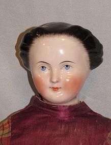"33"" Huge Early China Lady with Bun - Faraway Antique Shop #dollshopsunited"