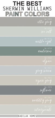We put together our top 10 most popular Sherwin Williams paint colors! These paint colors are sure to inspire your next room makeover. interior living room paint colors The Best Sherwin Williams Paint Colors Farmhouse Paint Colors, Paint Colors For Home, Top Paint Colors, Lowes Paint Colors, Best Bathroom Paint Colors, Dining Room Paint Colors, Paint Colors For Bedrooms, Bedroom Ideas Paint, Paint Colors For Office