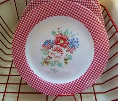 Picket Fence melamine dishes - out of production. Would like to find them somewhere.