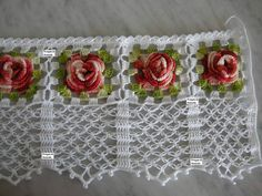 crochet flower link to instructions Filet Crochet, Beau Crochet, Crochet Motifs, Crochet Borders, Crochet Home, Thread Crochet, Love Crochet, Irish Crochet, Beautiful Crochet