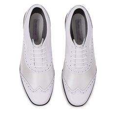 Stunning fashion-forward styling with the Tailored Collection Women golf shoes. Shop the Shoe in Golf with FootJoy today. Womens Golf Wear, Womens Golf Shoes, Golf Trainers, White Dress Shoes, Perfect Golf, Ladies Golf, Women Golf, Golf Fashion, Golf Outfit