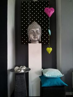 Budha Red Gold, Namaste, Buddha, Zen, Wall Lights, Peace, Flat, My Love, House Styles