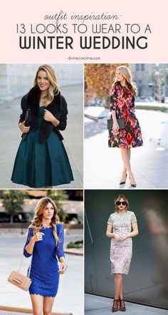 The bride may wear white, but what should you wear to a winter wedding? We compiled our favorite blogger looks to get you inspired. #style #wedding