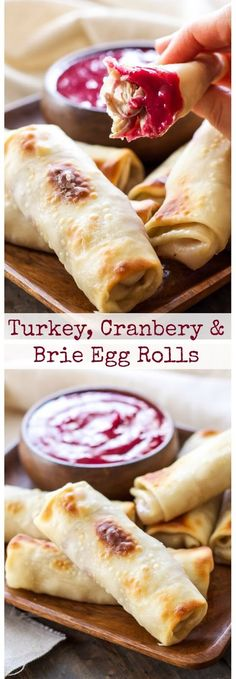 Turkey, Cranberry and Brie Egg Rolls | World Recipe Collection