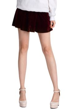 Crimson Metallic Skirt - Fashion Clothing, Latest Street Fashion At Abaday.com