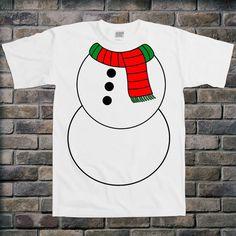 Snowman Body Christmas Holiday Tshirt  Funny Humor Tee by TEEBIRDS, $14.00