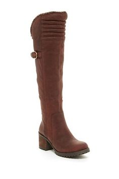 Narlee Faux Fur Lined Over-The-Knee Boot