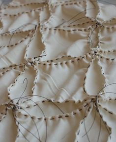 Shibori Tutorial using a stitch resist & natural plant dyes to create textural patterns - fabric design; creative textile techniques; fabric manipulation // Victory Patterns
