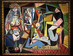 picasso Les femmes d'Alger - Canvas Wall Art Framed Print Various Sizes Pablo Picasso, Kunst Picasso, Picasso Art, Picasso Paintings, Oil Paintings, Willem De Kooning, Jackson Pollock, Alberto Giacometti, Modigliani