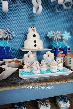 Throw a fun Disney Frozen Party with these creative DIY party ideas and fun Frozen party favor ideas and Frozen party dessert table ideas.