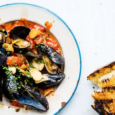 Mussels with Spicy Tomato Oil and Grilled Bread http://www.bonappetit.com/recipe/mussels-with-spicy-tomato-oil-and-grilled-bread